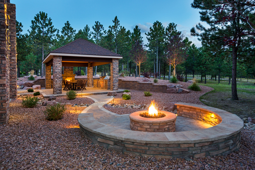 propane outdoor living space